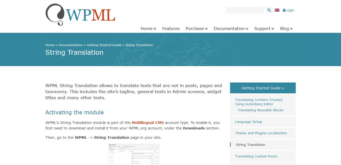 WPML WordPress Multilingual String Translation Addon 3.1.5