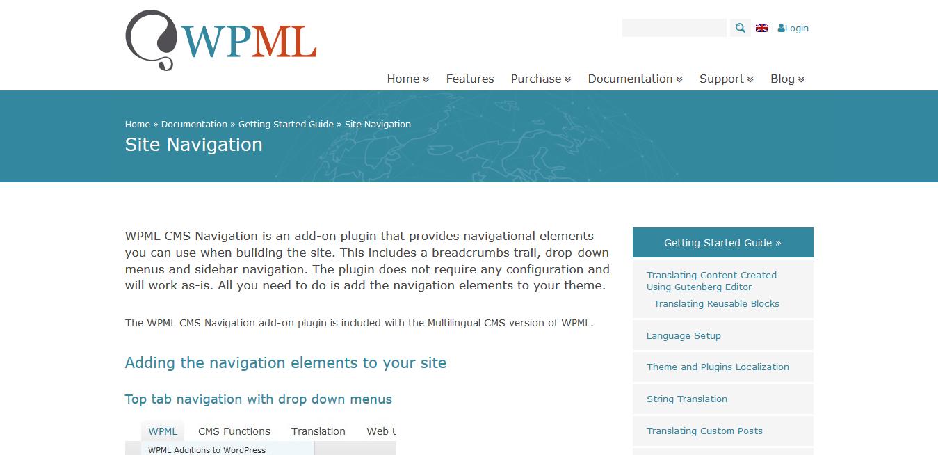 WPML WordPress Multilingual CMS Navigation 1.5.5