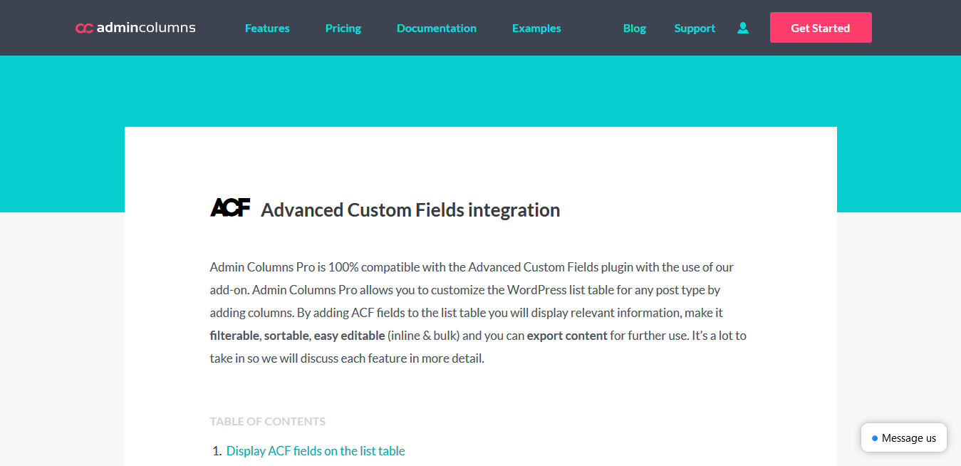 ACF – Admin Columns Pro Advanced Custom Fields 2.6.4