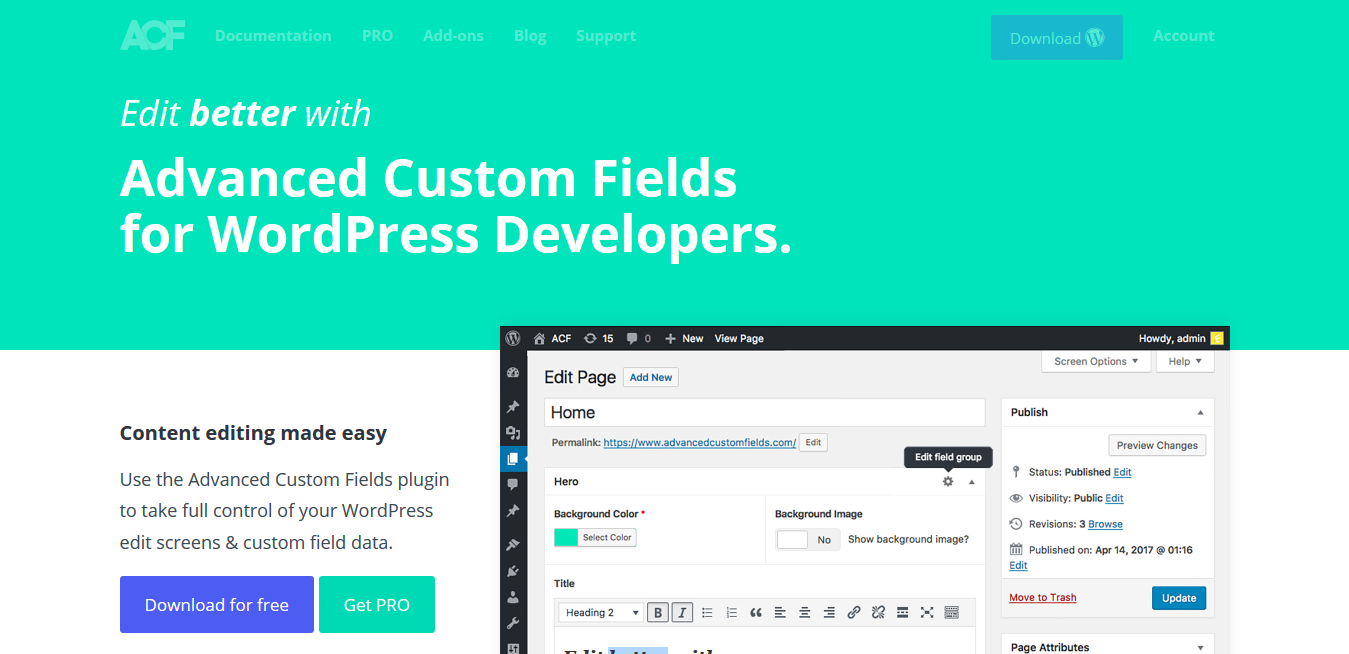 ACF Pro 5.9.5 – Advanced Custom Fields Pro Plugin for WordPress