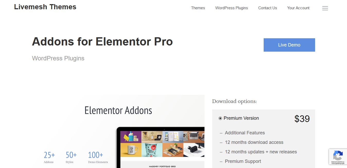 Livemesh Addons for Elementor Pro 6.9.3