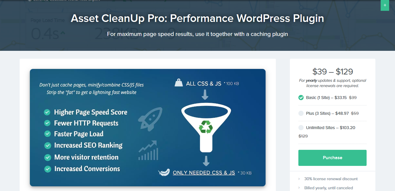 Asset CleanUp Pro 1.1.8.3 – Performance WordPress Plugin