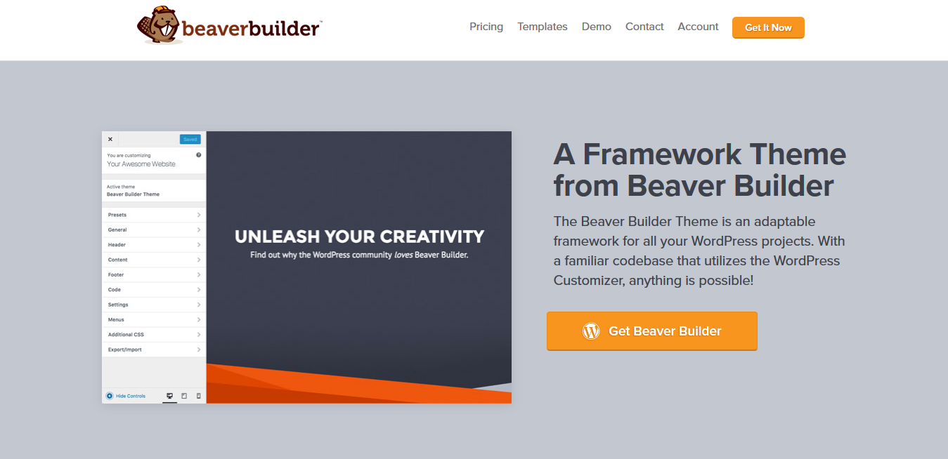 Beaver Builder Theme 1.7.8 – A Framework Theme from Beaver Builder