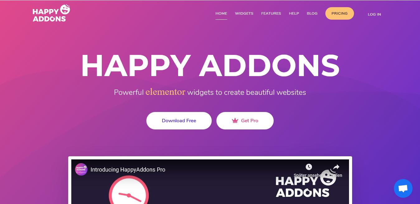 Happy Elementor Addons Pro 1.17.0 Pro + 2.24 Free – WordPress Plugin