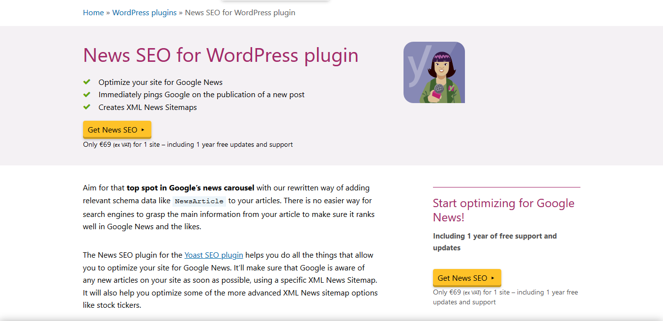 Yoast WordPress News SEO Premium 12.6