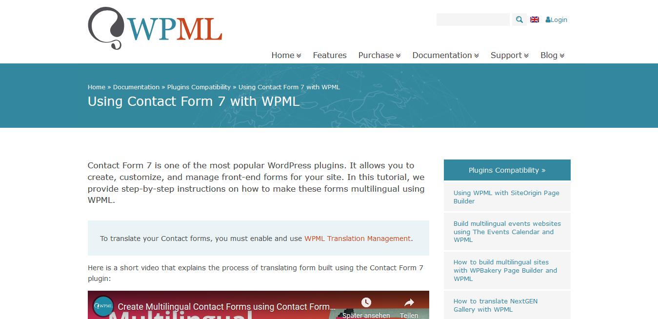 WPML WordPress Multilingual Contact Form 7 Addon 1.0.1