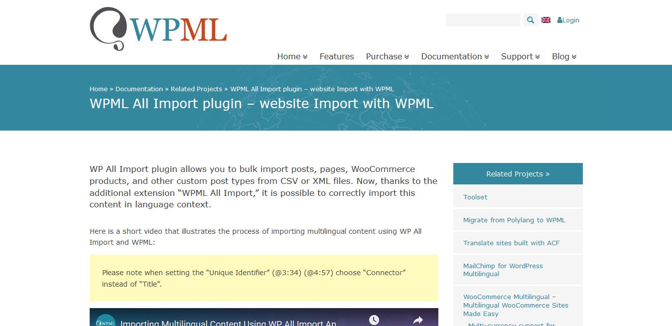 WPML WordPress Multilingual All Import Addon 2.2.0