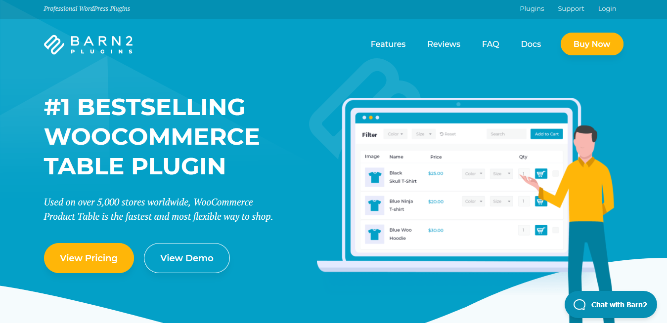 Barn2 Media WooCommerce Product Table 2.8.4: Bestselling Product Table Plugin