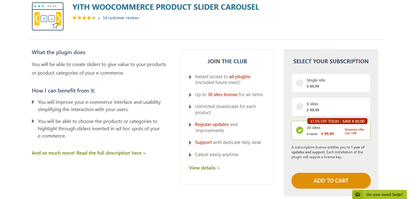 YITH WooCommerce Product Slider Carousel Premium 1.0.48