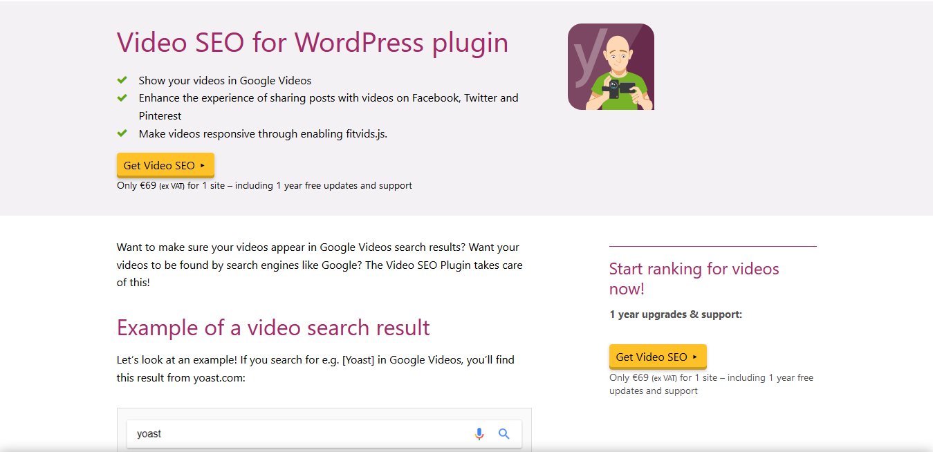 WordPress Yoast Video SEO Premium 13.8 – XML Video Sitemap plugin