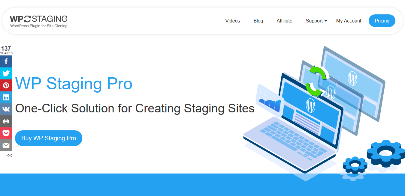 WP Staging Pro 3.1.8 – One Click Cloning of Your WordPress Website