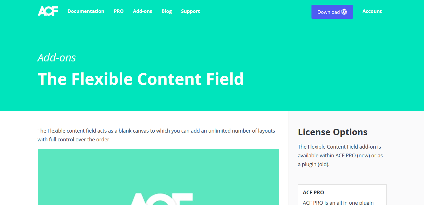 ACF Pro – Advanced Custom Fields Flexible Content Addon 1.1.1