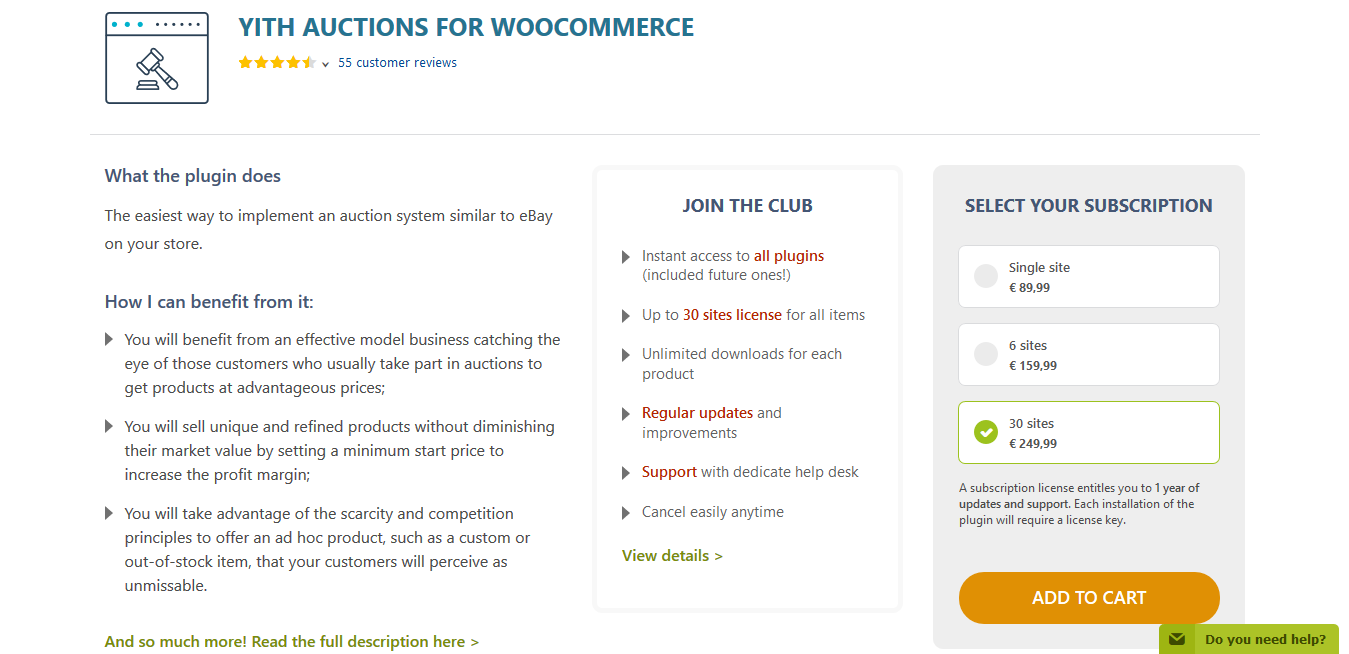 YITH Auctions for WooCommerce Premium 2.0.6
