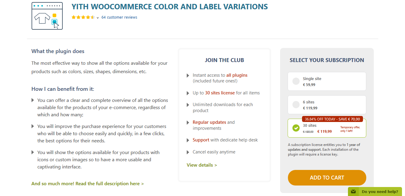 YITH WooCommerce Color and Label Variations Premium 1.13.0