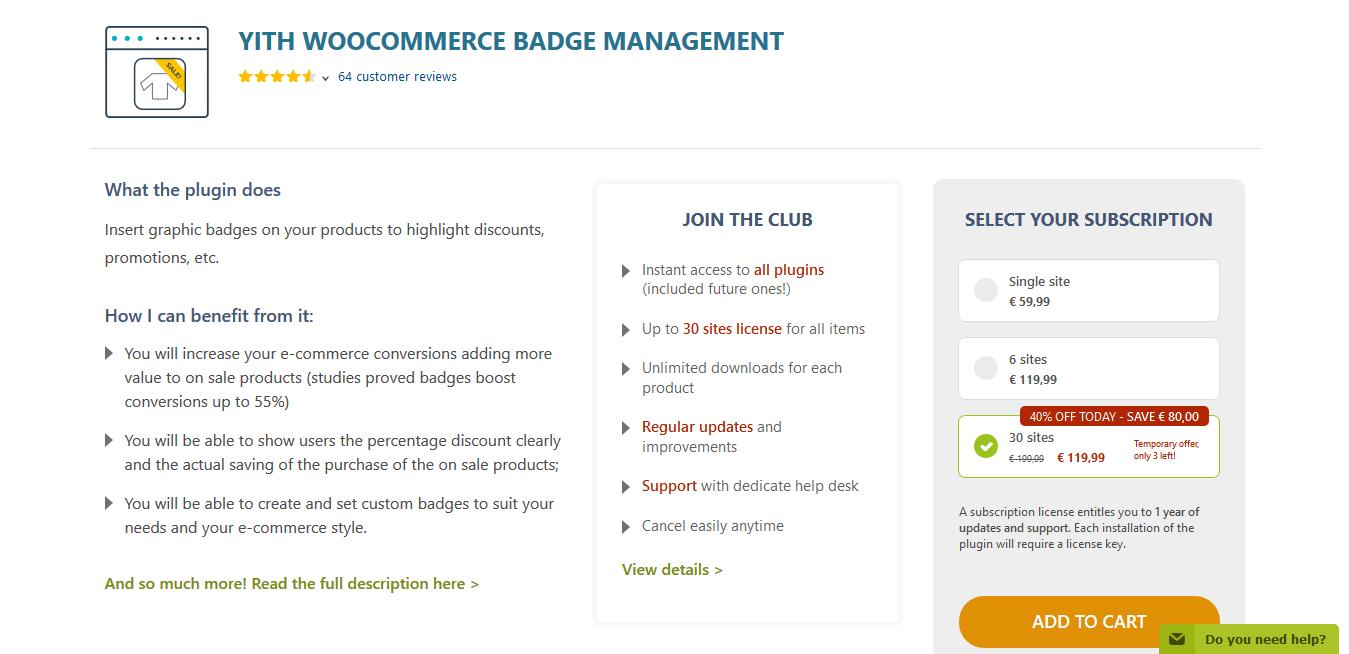 YITH WooCommerce Badge Management Premium 1.4.14