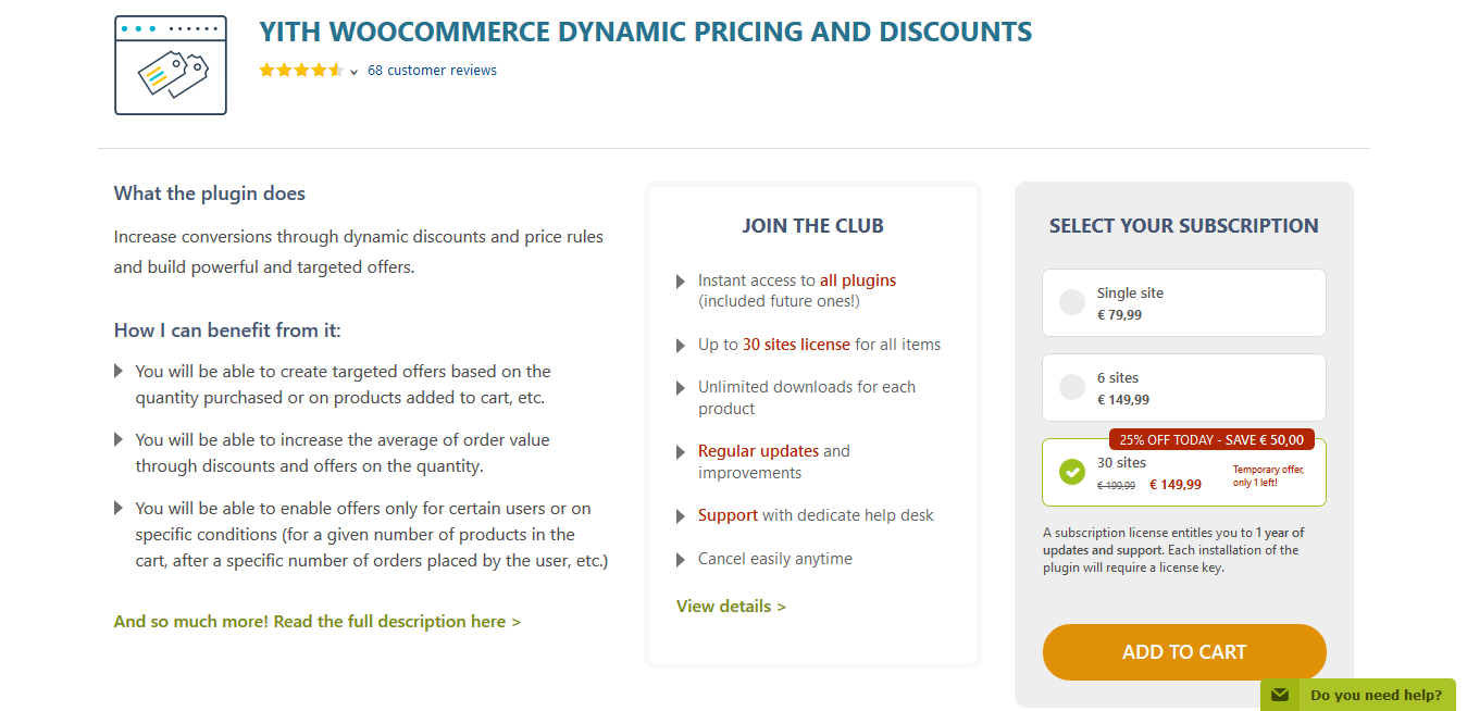 YITH WooCommerce Dynamic Pricing and Discounts Premium 2.0.3