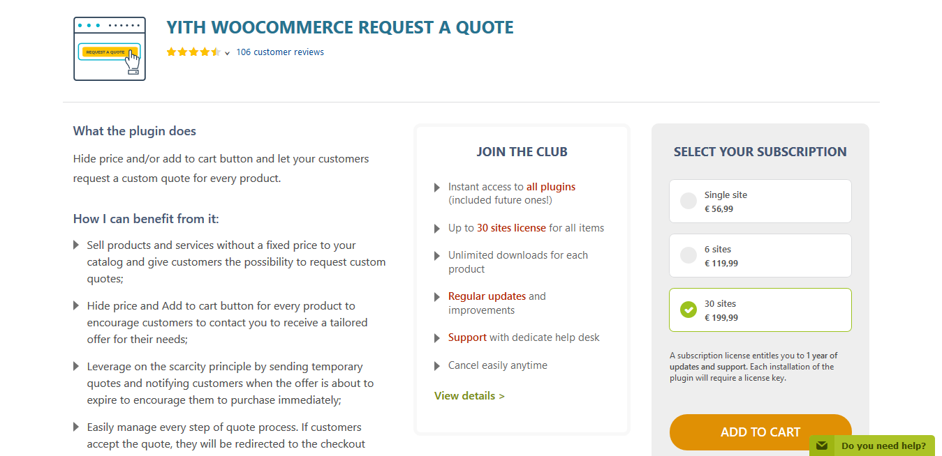 YITH WooCommerce Request a Quote Premium 3.1.3