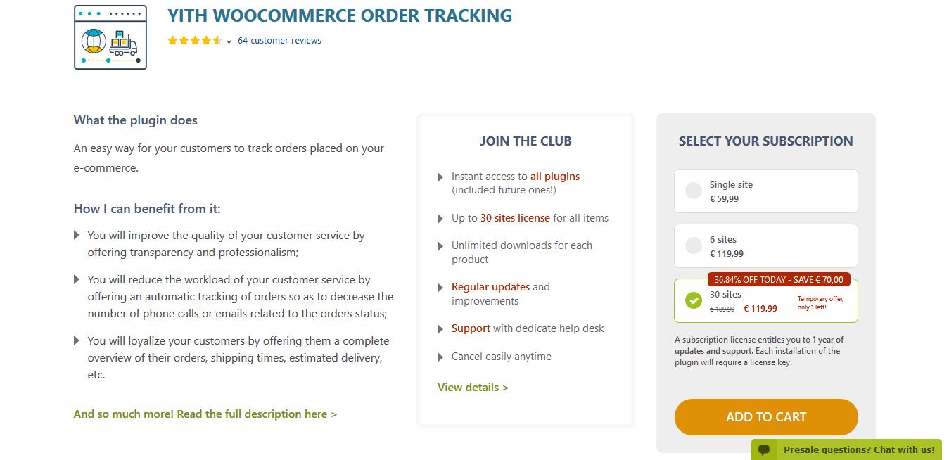 YITH WooCommerce Order Tracking Premium 1.6.12