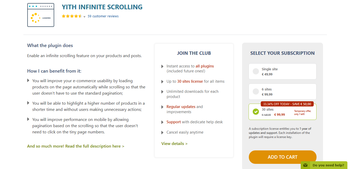 YITH Infinite Scrolling Premium 1.5.0
