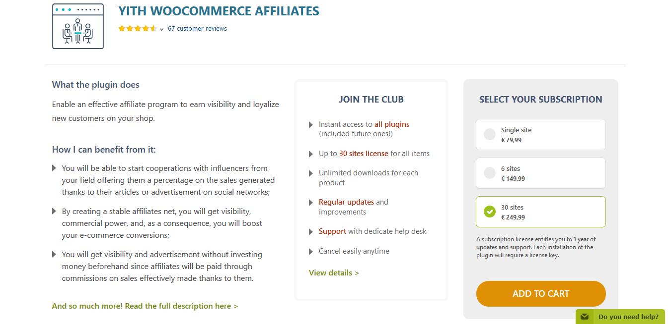 YITH WooCommerce Affiliates Premium 1.8.5