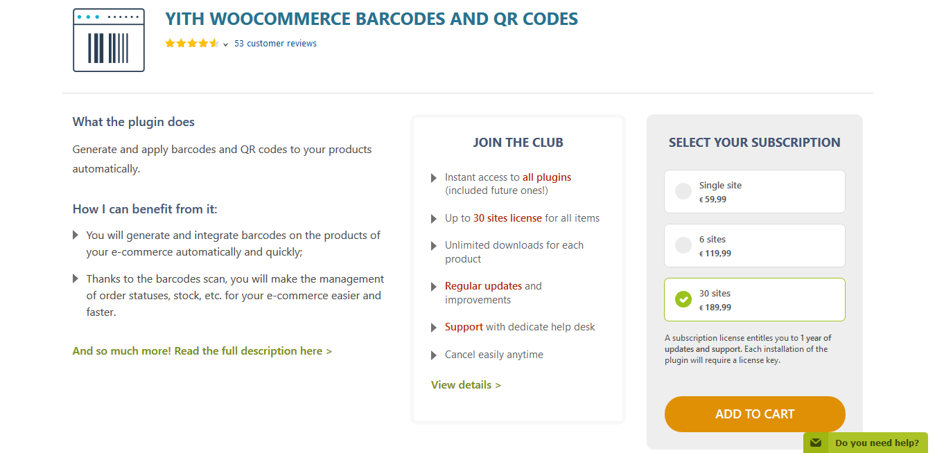 YITH WooCommerce Barcodes and QR Codes Premium 2.0.9