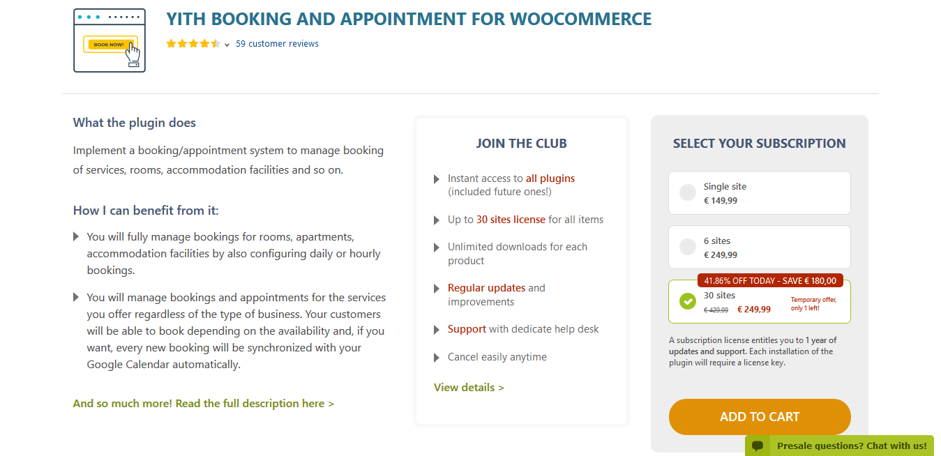 YITH Booking and Appointment for WooCommerce Premium 2.1.21