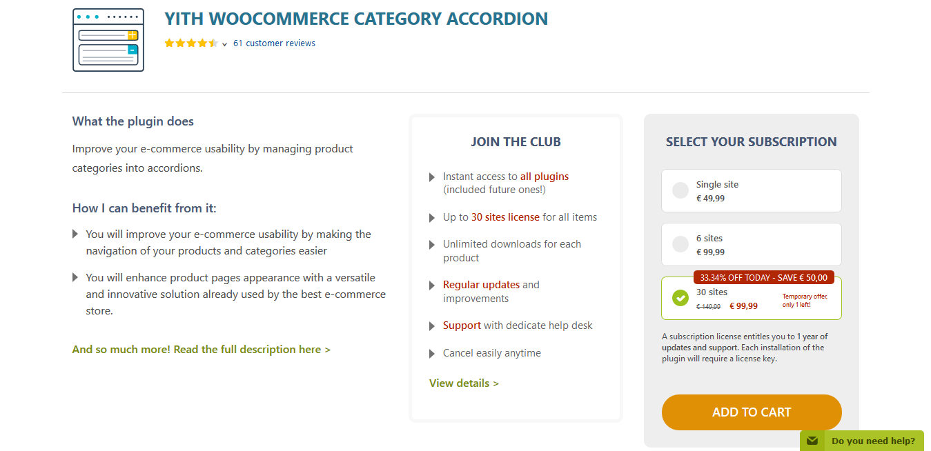 YITH WooCommerce Category Accordion Premium 1.0.41