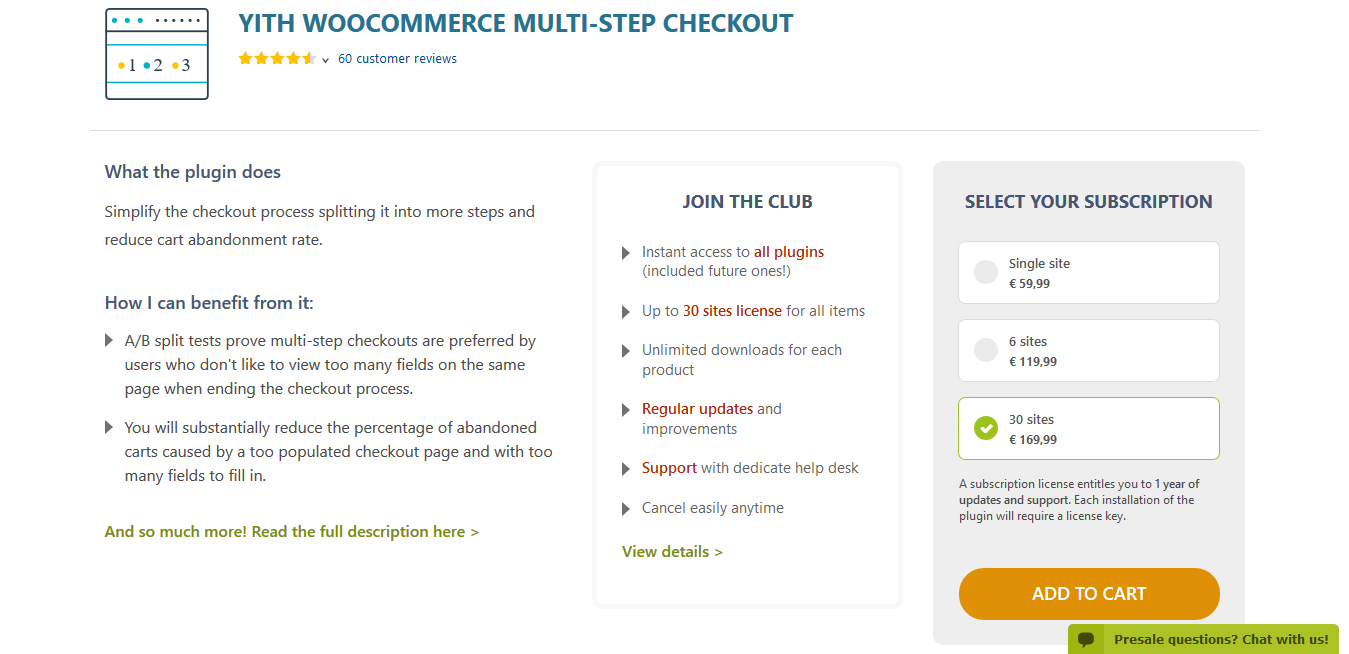 YITH WooCommerce Multi-Step Checkout Premium 2.0.9