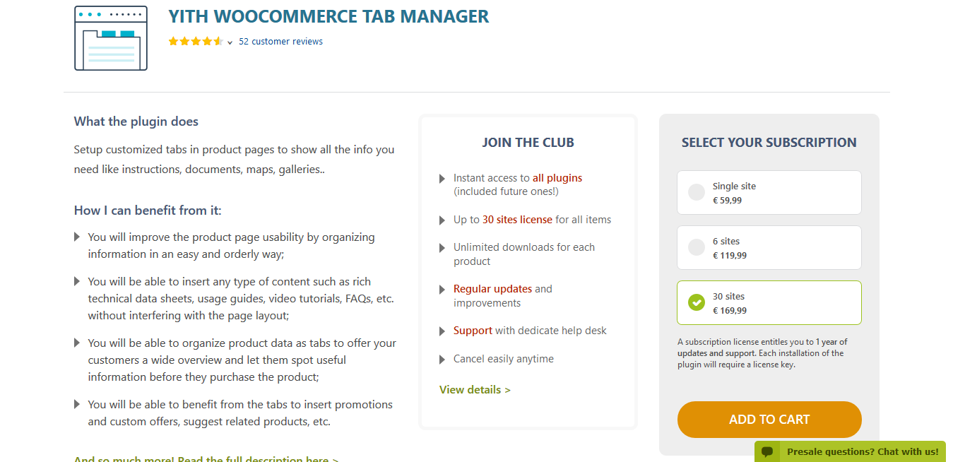 YITH WooCommerce Tab Manager Premium 1.2.31