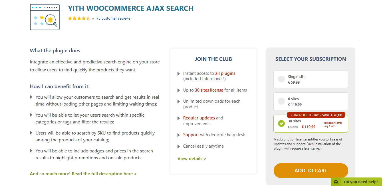 YITH WooCommerce Ajax Search Premium 1.8.1