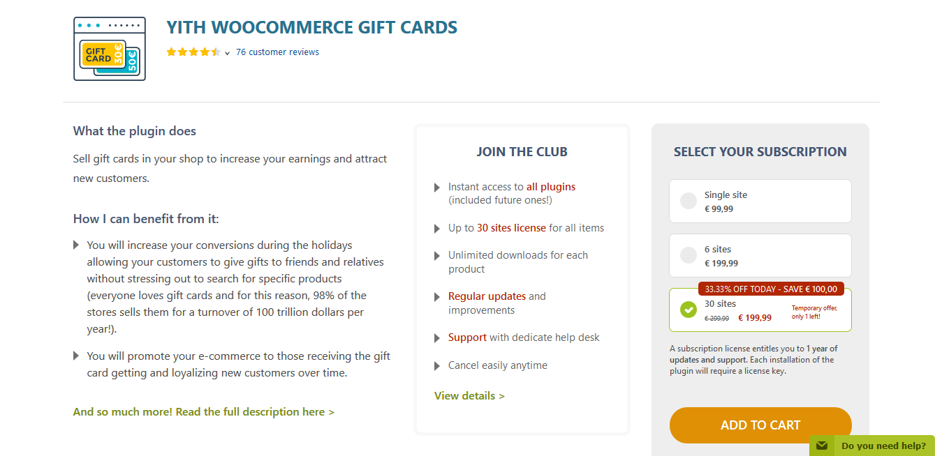 YITH WooCommerce Gift Cards Premium 3.3.3