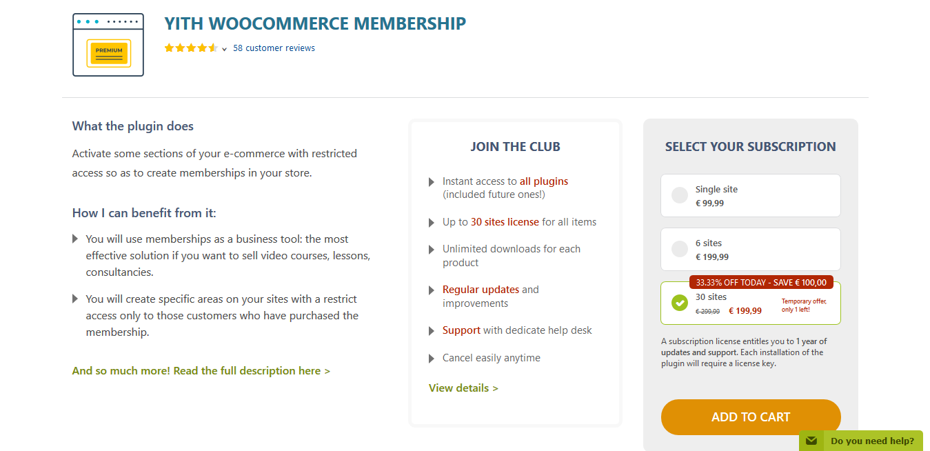 YITH WooCommerce Membership Premium 1.4.8