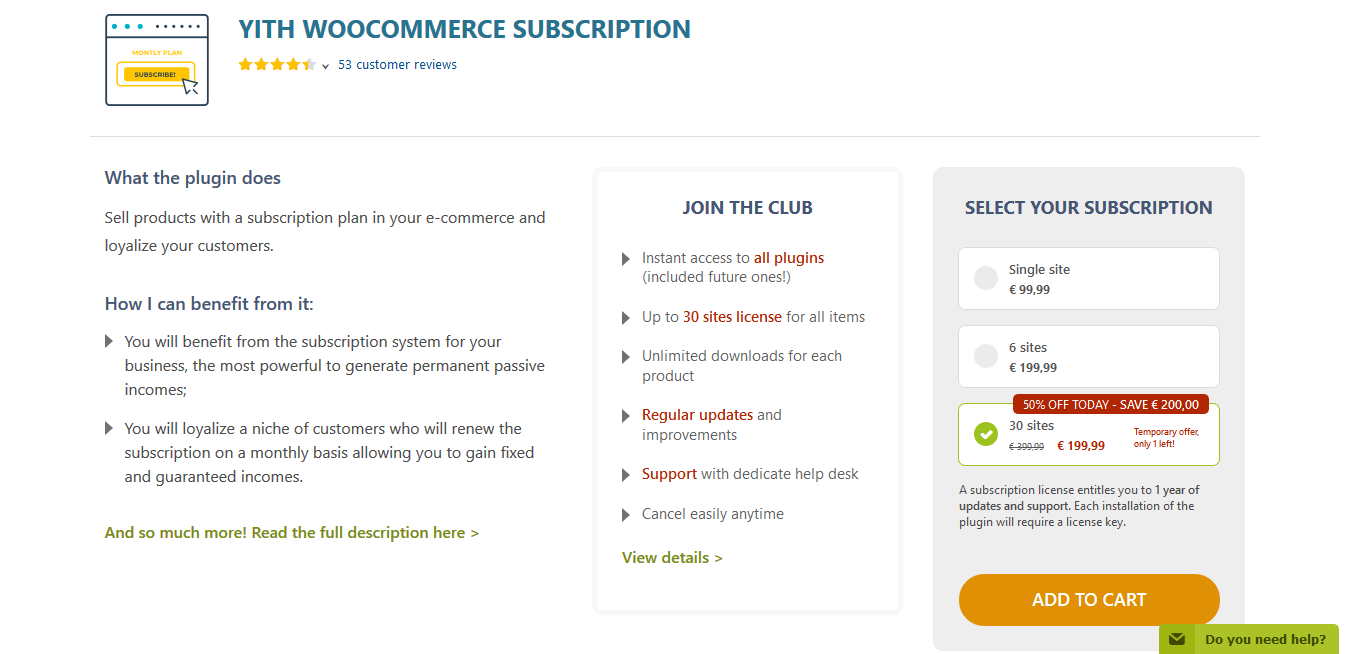 YITH WooCommerce Subscription Premium 2.3.1