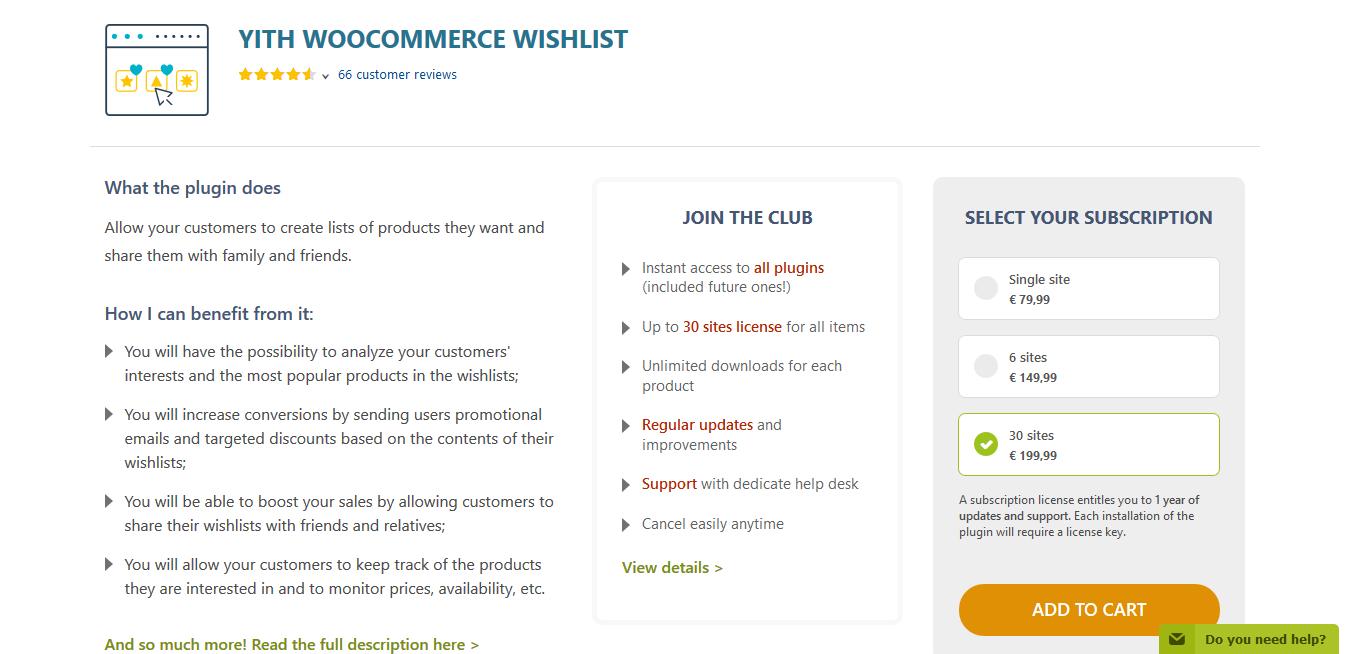 YITH WooCommerce Wishlist Premium 3.0.20