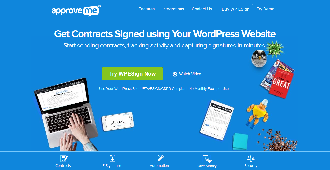ApproveMe eSignature 1.5.5.8 with All 12 Business Addons- Digital E-Signature for WordPress