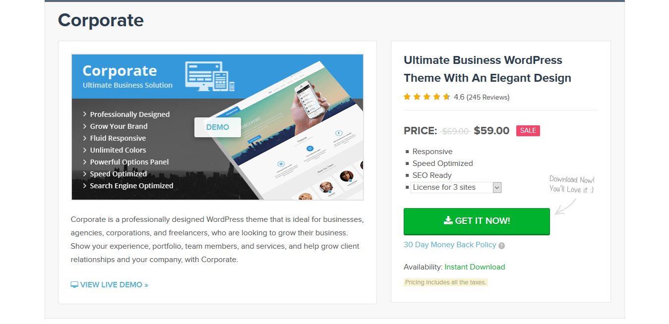 MyThemeShop Corporate 1.4.0 – Ultimate Business WordPress Theme