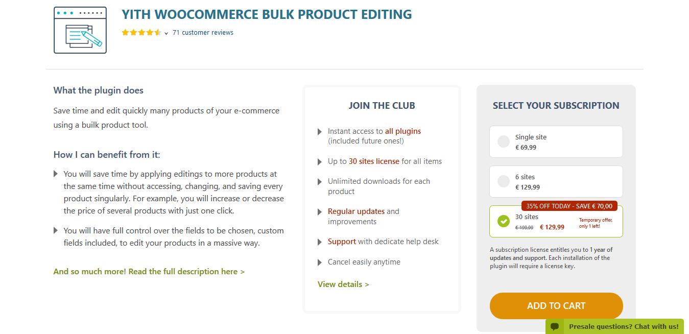 YITH WooCommerce Bulk Product Editing Premium 1.2.30