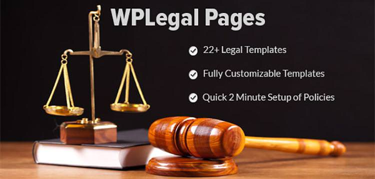 WP Legal Pages Pro 8.1- Simple WordPress Privacy Policy Generator