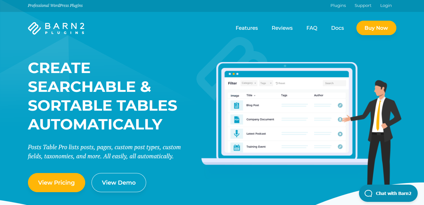 WP Post Table Pro 2.3 – WordPress Table Plugin List Posts, Pages Custom Post Types
