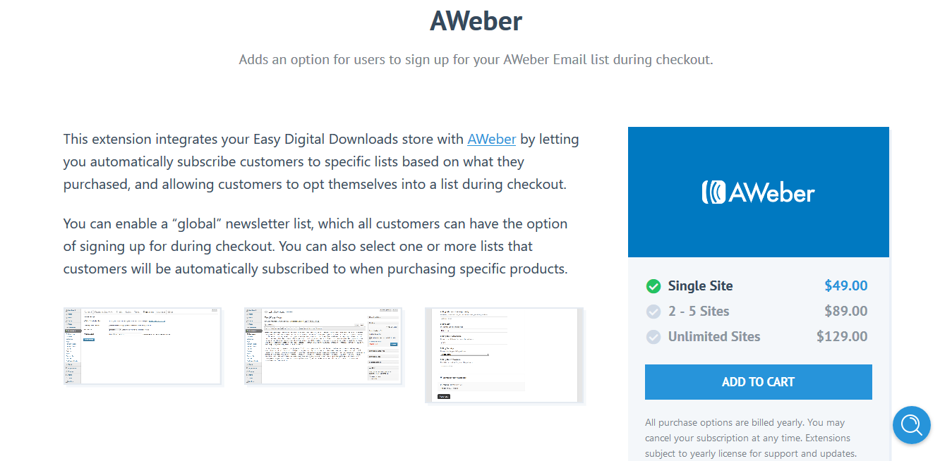 Easy Digital Downloads Aweber 2.0.8