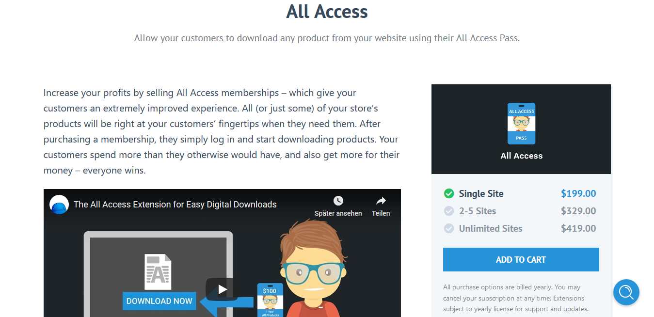 Easy Digital Downloads All Access 1.1.4