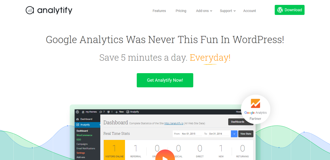 Analytify Pro 4.1.1 (+ All 5 Addons)- Google Analytics in WordPress.