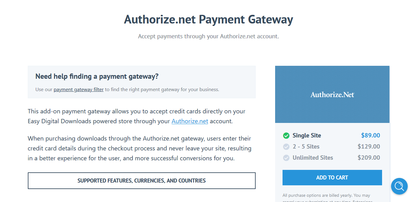 Easy Digital Downloads Authorize.net Payment Gateway 1.1.3