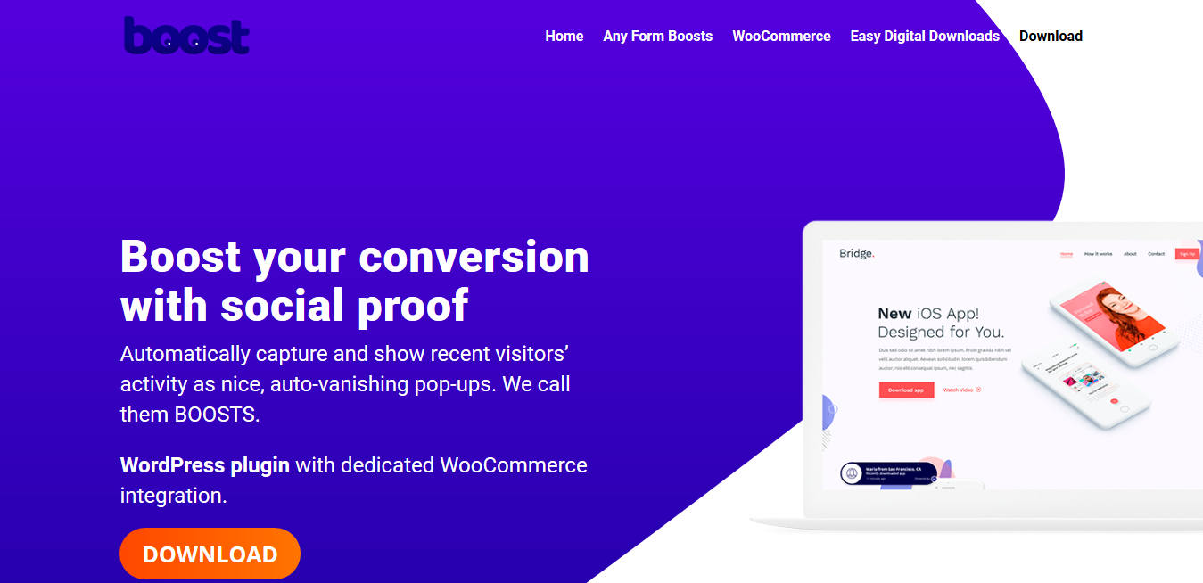 Boost Plugin 1.0.7- Improve conversion with Social Prove