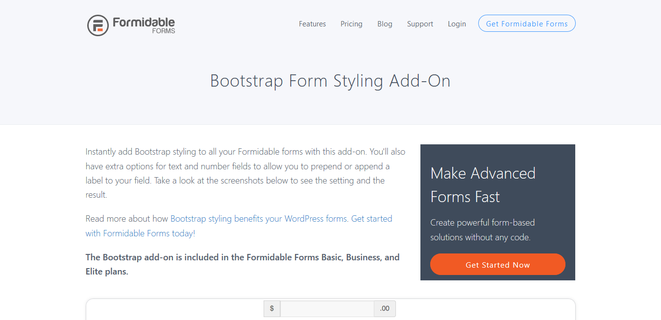 Formidable Forms Pro Bootstrap Form Styling 1.02.02