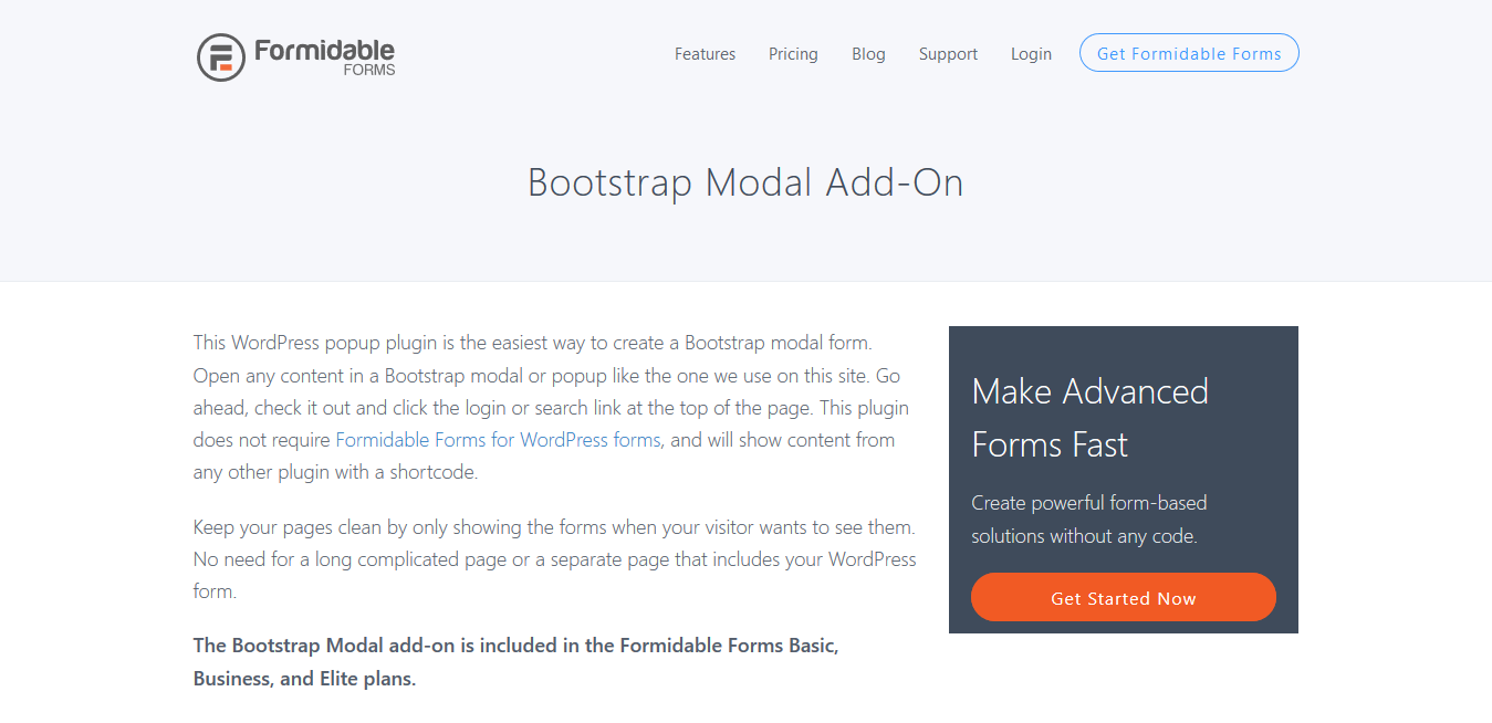 Formidable Forms Pro Bootstrap Modal Add-On 2.0