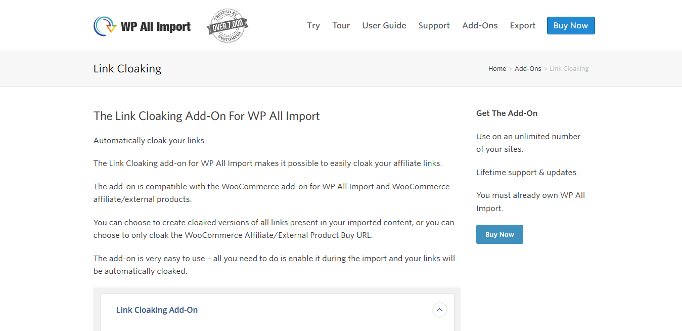 WP All Import Pro The Link Cloaking Add-On 1.1.3