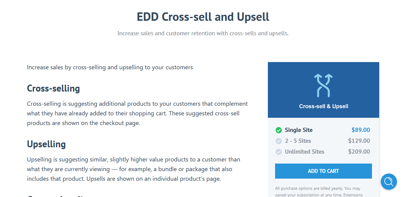 Easy Digital Downloads Cross-sell and Upsell 1.1.8