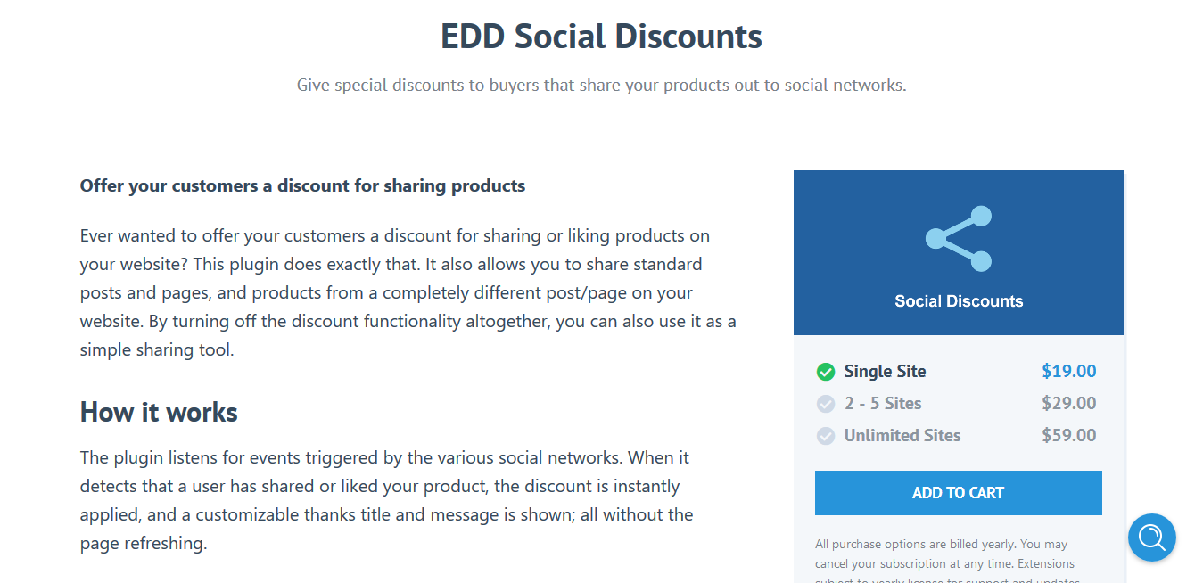 Easy Digital Downloads Social Discounts 2.0.5