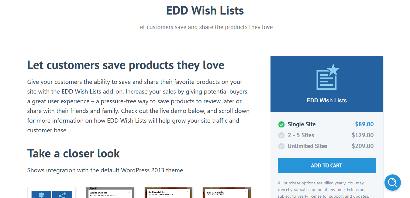 Easy Digital Downloads Wish Lists 1.1.7 – Let customers save and share the products they love